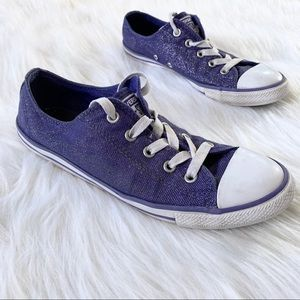 Converse All Star Purple Glitter Low Top Sneakers